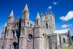 St David's Cathedral. Close in shot of one of the ends of St David's cathedral in Pembrokeshire royalty free stock image