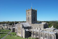 St David's Cathedral. Pembrokeshire, Wales Royalty Free Stock Photo
