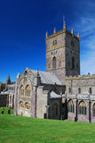 St David's Cathedral. In St David's in the Welsh county of Pembrokeshire, on the most westerly point of Wales Stock Photo
