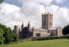 St David's Cathedral. Pembrokeshire, Wales, United Kingdom Royalty Free Stock Image