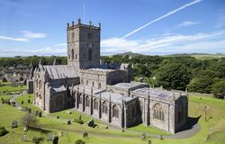 St David's Cathedral. Pembrokeshire, Wales, Great Britain Royalty Free Stock Photo