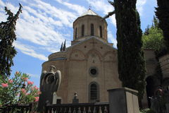 St. David's Church and Pantheon of Writers and Public Figures of Georgia in Tbilisi city, Georgia Stock Photos