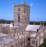 St davids cathedral pembrokeshire. St davids cathedral,in the city of st davids britains smallest city,pembrokeshire Stock Image