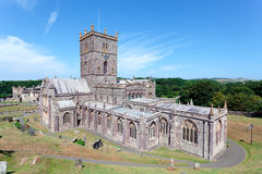 St. Davids Cathedral, Pembrokeshire, Wales Stock Photos
