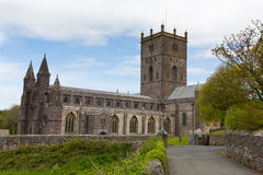 St Davids Cathedral Pembrokeshire Wales Stock Photo