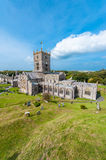 St Davids Cathedral in Wales stock images