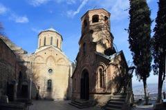 St. David's Church and Monastery in Tbilisi, Georgia Stock Photos