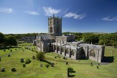 St Davids, Pembrokeshire, Pays de Galles, R-U, juillet 2014, une vue de cath?drale de Davids de saint photo libre de droits