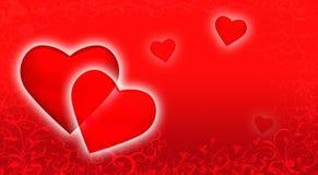 St. de achtergrond van de Dag van de valentijnskaart. Stock Fotografie