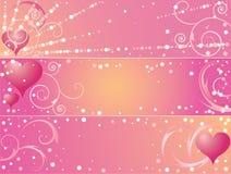 St. de banners van de Dag van de valentijnskaart Royalty-vrije Stock Afbeelding