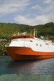 St. de Bequia del transbordador del transporte del viajero vincent foto de archivo