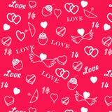 St. de dag naadloos patroon van de valentijnskaart Royalty-vrije Stock Fotografie