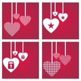 St. de dagachtergronden van de valentijnskaart Royalty-vrije Stock Afbeeldingen
