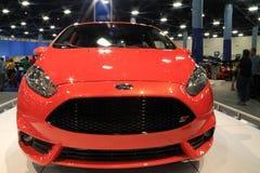 St de fiesta de Ford au salon de l'Auto de Miami Photos libres de droits