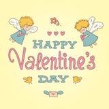 St de kaart van de valentijnskaartendag Stock Afbeelding