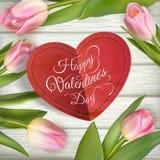 St de kaart van de valentijnskaartendag Eps 10 Stock Foto