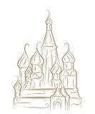 St. de Kathedraal van het basilicum vector illustratie