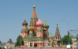 St. de Kathedraal van het basilicum (het Kremlin, Moskou, Rusland) Royalty-vrije Stock Afbeelding