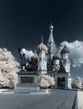 St. de Kathedraal van het basilicum. Infrarood. Royalty-vrije Stock Afbeelding
