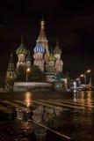 St. de Kathedraal van het basilicum in Moskou stock afbeelding
