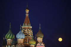St. de Kathedraal van het basilicum, Moskou Stock Foto