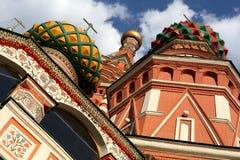 St. de Kathedraal van het basilicum in Moskou Stock Foto's