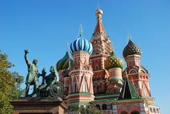 St. de kathedraal van het basilicum in Moskou Stock Fotografie