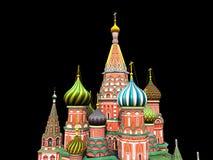 St de Kathedraal van het Basilicum, Moskou, illustratie, Royalty-vrije Stock Afbeeldingen
