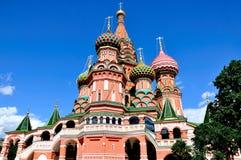 St de Kathedraal van het Basilicum, Moskou, Rusland stock foto's