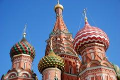 St. de kathedraal van het basilicum in Moskou, Rusland, stock afbeeldingen