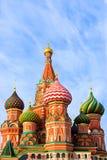 St. de Kathedraal van het basilicum op Rood vierkant Royalty-vrije Stock Foto's