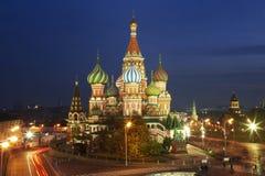 St de Kathedraal van het basilicum op Rood vierkant Royalty-vrije Stock Foto's