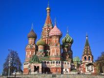 St. de Kathedraal van het basilicum op Rood vierkant, Moskou Stock Foto