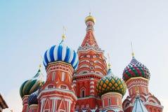 St. de Kathedraal van het basilicum, Rood Vierkant, Moskou, Rusland. Royalty-vrije Stock Foto