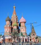 St. de Kathedraal van het basilicum, Rood Vierkant, Moskou, Rusland. Stock Fotografie