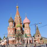 St de Kathedraal van het basilicum, Rood Vierkant, Moskou, Rusland Royalty-vrije Stock Afbeeldingen