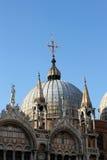 St. de Kathedraal Venetië van het teken Stock Foto