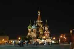 St. de kerk Moskou van het basilicum Stock Foto's
