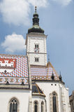 St. de Kerk van het teken, Zagreb stock foto's