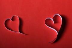 St de papier Valentine de fond de coeurs Photos stock