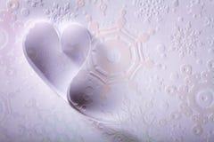 St de papier Valentine de fond de coeurs Photographie stock