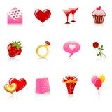 St. de pictogrammen van de Dag van de valentijnskaart vector illustratie