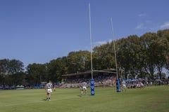 1st de Teamsmiddelbare scholen van de rugbyactie Stock Foto