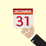31st December Calendar. Vector Illustration Stock Images
