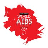 1st December World Aids Day poster. World AIDS Day concept vector illustration