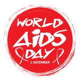 1st December World Aids Day poster. World AIDS Day concept Royalty Free Stock Images
