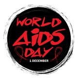 1st December World Aids Day poster. World AIDS Day concept royalty free illustration