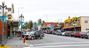 St del centro dell'Alaska Seward quarta Fotografie Stock