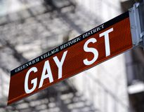 St del gay a New York Cityy Immagini Stock