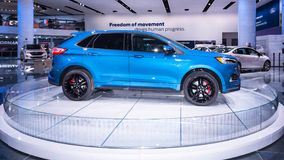 2019 st di Ford Edge, NAIAS fotografia stock